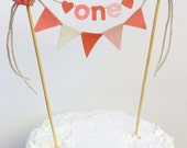 Cake Banner, Cake Topper, Cake Garland, Birthday Cake Banner, Birthday Cake Bunting, Birthday Cake Garland, Ombre Cake Banner:  Pink Hues