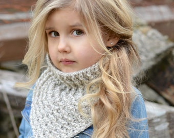 CROCHET PATTERN-Banlynn Cowl (Adult, Child, Toddler sizes)