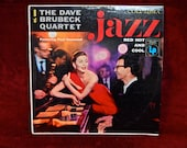 CRAZY CUPID SALE Dave Brubeck - Jazz Red Hot and Cool - 1956 Vintage Vinyl Record Album