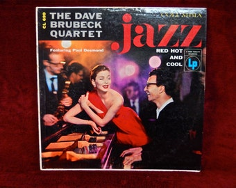 DAVE BRUBECK - Jazz Red Hot and Cool - 1956 Vintage Vinyl Record Album