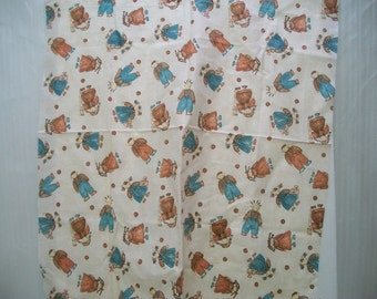 Craft supplies, Vintage Fabric Remnant, Erlander Fabric Remnant, Sewing Supplies, Child Fabric, Cotton Fabric Remnant,
