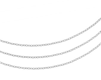 Sterling Silver 1.5 x 1mm Drawn Cable Chain - 5ft (2301-5)/1