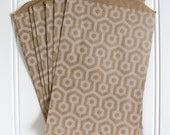 15 Hexagon Honeycomb Kraft Bags (Treat Bags, Favor Bags, Gift Wrap, Envelopes) - 5 x 7.5 inches