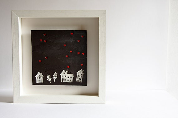 Home Sweet Home, homecoming, housewarming gift. simple black wall decor. handmade ceramic tile. Christmas gift for parents, family new home.