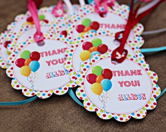 Scalloped Carnival, Circus Favor Gift Tags