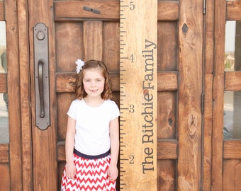 Custom Growth Chart Vinyl Decal Kit by The Vinyl Company - Growth Chart Name Ticks Numbers, Growth Chart Vinyl Wall Art Decal Kit, 32x.3.5