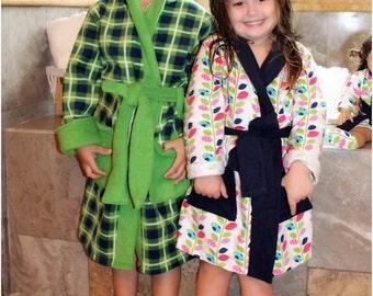 "Comfy  Cozy Robe: Bath Robe Sewing Pattern, 18"" Doll Robe Pattern"