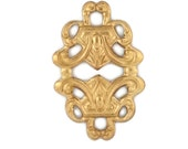 Raw Brass Ornate Nouveau Celtic Knot Bail Stamping Perfect for Steampunk Art Made in the USA Brass