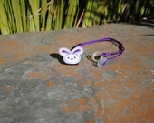 Mia the Purple Bunny - Hearing Aid Cord or Cochlear Implant Cord