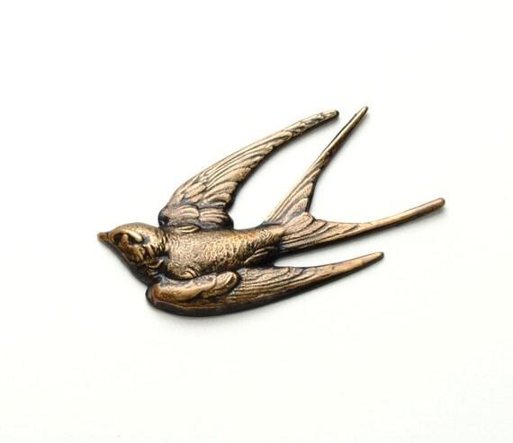 BIRD Pin VICTORIAN Bird Brooch Pin Wing Jewelry Bird Jewelry Flight Soaring Swallow Nature Inspired Victorian Jewelry Victorian Curiosities