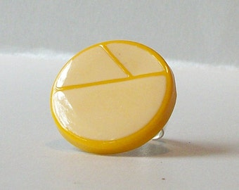 Yellow Adjustable Ring, Eco Friendly Adjustable Ring, Statement Ring