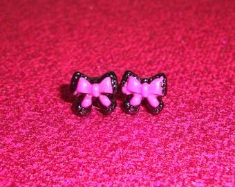 Tiny Lolita Ribbon Earrings