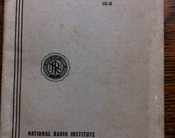 1943 Radio Television Electronic Dictionary National Radio Institute Course for Radiotrician Teletrician Radio Home Study Book