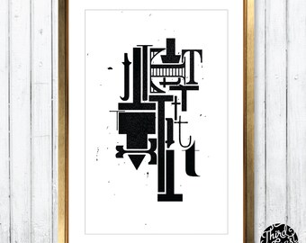 Letter T Type Specimen - 11x17 Art Print