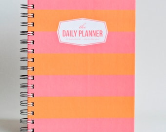 The Daily Planner - Orange Bold (60 days planner)