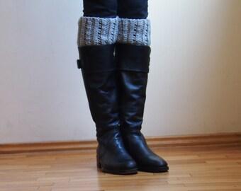 Crochet PATTERN women  Boot cuffs, ribbed leg warmers short chunky socks knit look,  DIY tutorial Instant download PDF