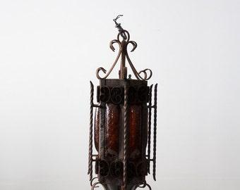 vintage iron chandelier, hacienda lighting, Mexican light