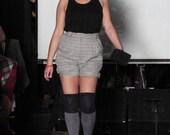 Vintage Shorts: 80s Green Plaid Shorts