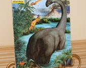 Dinosaurs Book, Instructional, 1960, Color, Black and White, 48 pages, gift giving