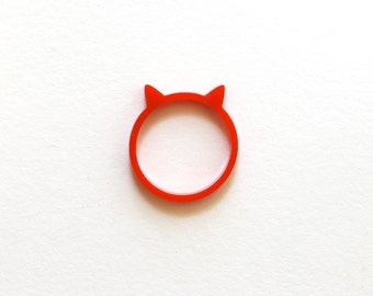 Kitty Cat Ring in Red
