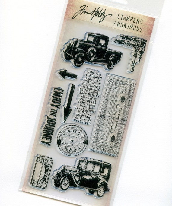 Tim Holtz Visual Artistry Clear Stamps - The Journey