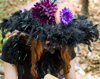 Teen Adult Witch Hat in Purple, Plum and Peach for Parties, Halloween, Costume, Dress-Up