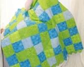 A Lime Green & Blue Masterpiece Quilt