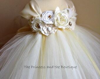 flower girl dress, flower girl dresses, ivory flower girl dress, gold flower girl dress, gold dress, ivory dress, baby dress, child dress