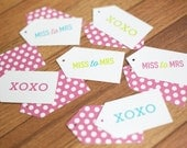 Gift Tags - Miss to Mrs / XOXO - 12 Pack - Bridal Shower Collection