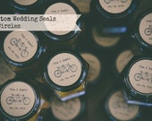 "CUSTOM 2"" Wedding Customizable -Personalized - Favor -KRAFT or WHITE - round/circle seals/Stickers/labels - fits mason jar"
