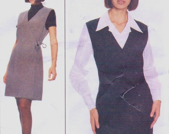 90s Lida Baday Womens Princess Seam Jumper and Fitted Blouse French Cuffs McCalls Sewing Pattern 8943 Size 14 Bust 36 UnCut