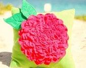 Pink Fleece Flower Pillow