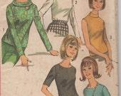Bust 32-1965 Misses' Set of Blouses Simplicity 6138 Size 12