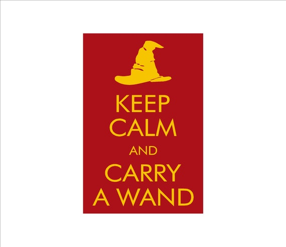 Keep Calm and Carry A Wand sign - smaller size geek gift