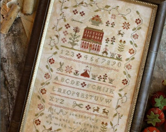 Needleworker's Sampler : With Thy Needle Country Stitches counted cross stitch patterns folk art prim hand embroidery