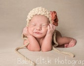 Crochet Pattern for Victorian Baby Bonnet Hat - 5 sizes, newborn to toddler - Welcome to sell finished items