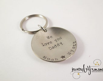 Personalized Keychain - Dad - Mens - Womens - Kids Names - Mother - Father - Grandma - Grandpa - Friend - Fathers Day - Hand Stamped