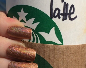 Pumpkin Space Latte nail polish by Comet Vomit Limited Edition orange copper fall gold holographic autumn