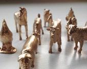 Golden Animals- Set of 50 | Wedding Favors, Place Holders, Home Decor, Party Favor, Farm Wedding
