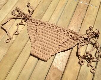 brown bikini bottoms - tie bikini - crochet bikini bottoms - summerwear - beachwear - swimsuit women senoaccessory
