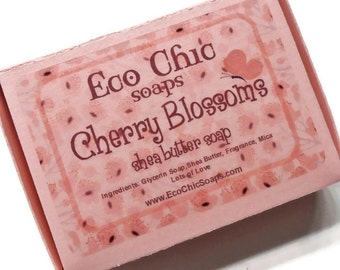 Cherry Blossoms Soap - Shea Butter Handmade Soap - Gift Soap - Vegan Friendly