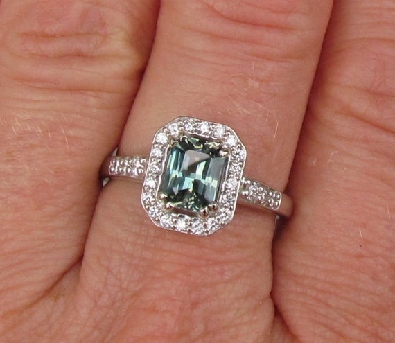 Radiant Cut Blue Green Sapphire Engagement Ring By. Samurai Wedding Rings. Tsavorite Garnet Rings. Vine Branch Engagement Rings. Flower Engagement Rings. Dark Wedding Rings. Celibrity Rings. Five Wedding Rings. Meaningful Rings