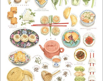 Dim Sum-The Art of Chinese Tea Lunch, Medium Giclee Print