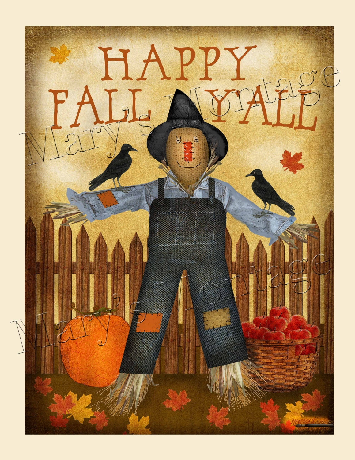It's just a photo of Dramatic Happy Fall Y'all Printable