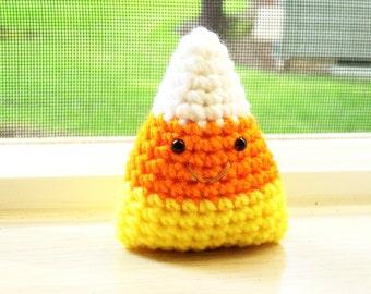Candy Corn Chibi - White, Orange, and Yellow
