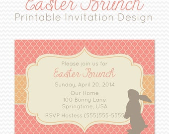 easter party invitation dinner party invite spring party supplies easter brunch pastel - Easter Party Invitations