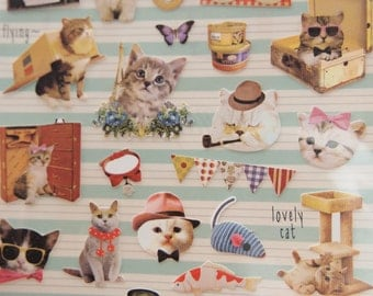 Lovely Alley Cats Sticker (1 sheet)