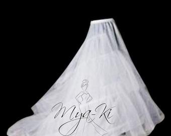 Bridal Prom Petticoat underskirt Slip skirt for A-line train