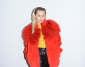 RESERVED for NiniStyleNet -  Red Mongolian Goat Fur Coat / Jacket