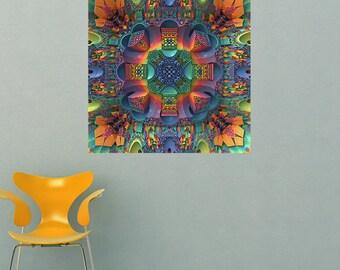 Mandala Art Wall Decal Sticker - Groovy Baby by Lyle Hatch